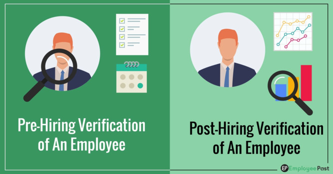 Pre-Hiring and Post-Hiring Verification of An Employee